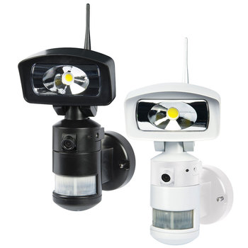 NightWatcher NW760 16W LED Robotic Security Light with Wi-fi HD Camera 8GB SD in White