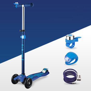 Micro Maxi Scooter Deluxe Gift Set Bundle in Blue (5+ Years)