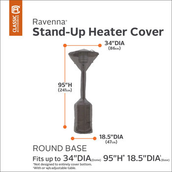 Classic Accessories Ravenna Stand-up Patio Heater Cover