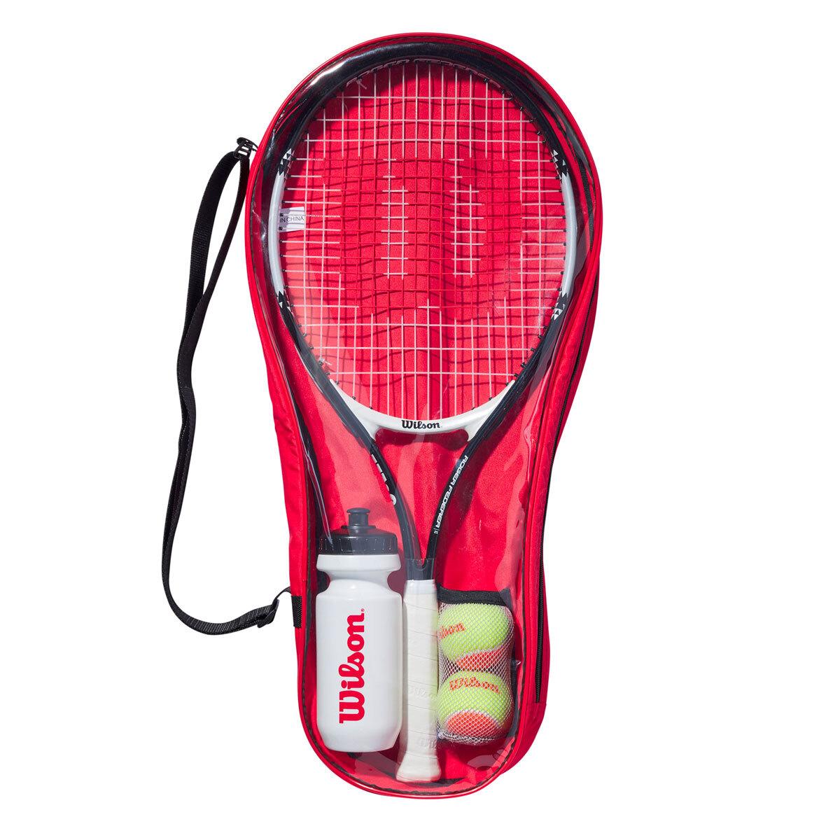 Wilson Roger Federer 25 63cm Junior Tennis Racquet Set 9 10 Years Costco Uk