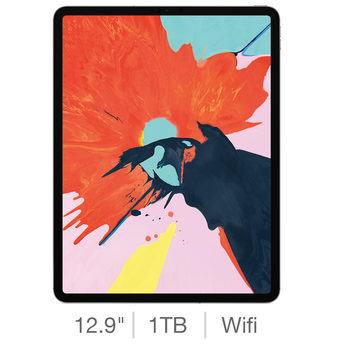 Apple iPad Pro 2018, 12.9 Inch, 1TB with Built-in WiFi
