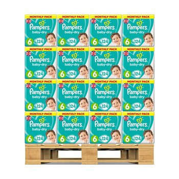 Pampers Baby Dry Nappies Size 6, 48 x Monthly 124 Pack
