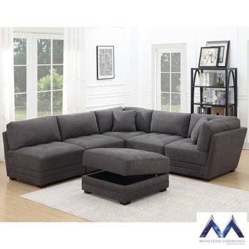 Mstar International Ethan 6 Piece Modular Fabric Sofa