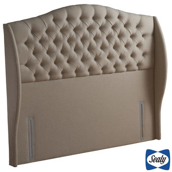 Sealy Richmond Fawn Fabric Full Height Headboard in 3 Sizes