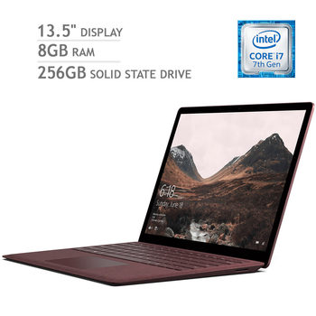 Microsoft Surface Laptop, Intel Core i7, 8GB RAM, 256GB Solid State Drive, 13.5 Inch Notebook in 4 Colours