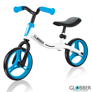 Globber Go Bike in White/Sky Blue (3+ Years)