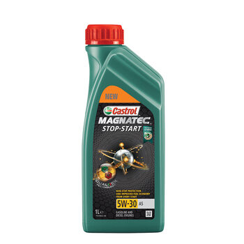 Castrol Magnatec Stop - Start 5W-30 A5 Engine Oil, 2 x 1 Litre