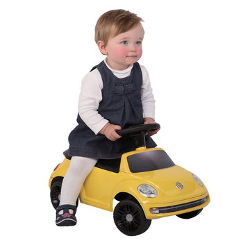 Rollplay VW Beetle Children's Foot-To-Floor Ride On - Yellow (12+ Months)