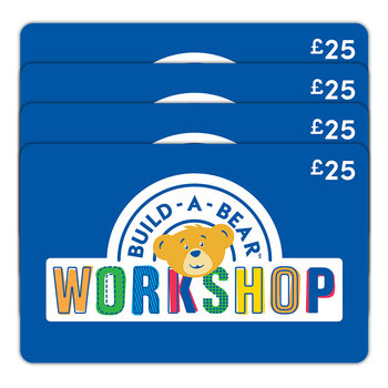 £100 BUILD-A-BEAR Gift E-Card Multipack (4 x £25)