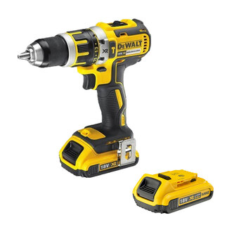 DEWALT® 18V XR Li-Ion Brushless Compact Hammer Drill Driver & 2 AH Batteries