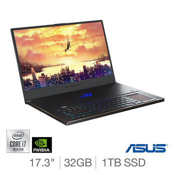 ASUS ROG Zephyrus, Intel  Core i7, 32GB RAM, 1TB SSD, NVIDIA GeForce RTX 2080 Super, 17.3 Inch Gaming Laptop, GX701LXS-HG032T