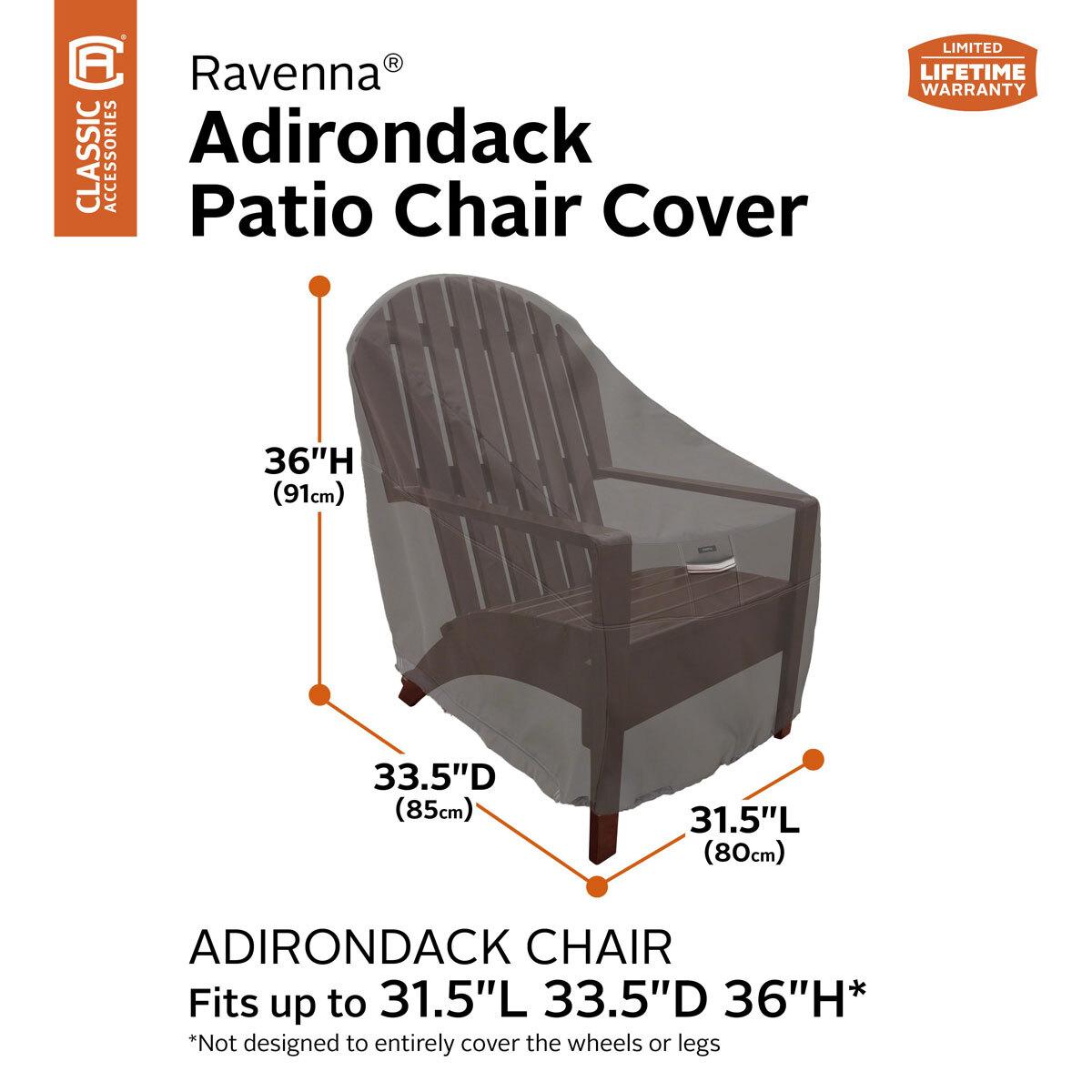 Picture of: Classic Accessories Ravenna Adirondack Chair Cover Costco Uk