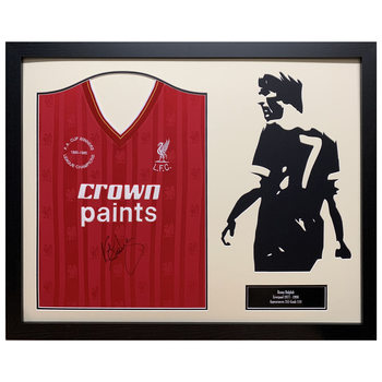 Kenny Dalglish Signed Framed Liverpool Football Shirt