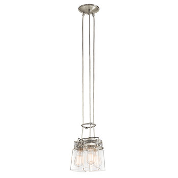 Kichler Brinley Three Light Pendant Ceiling Light in Brushed Nickel