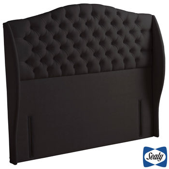 Sealy Richmond Peat Brown Fabric Full Height Headboard in 3 Sizes