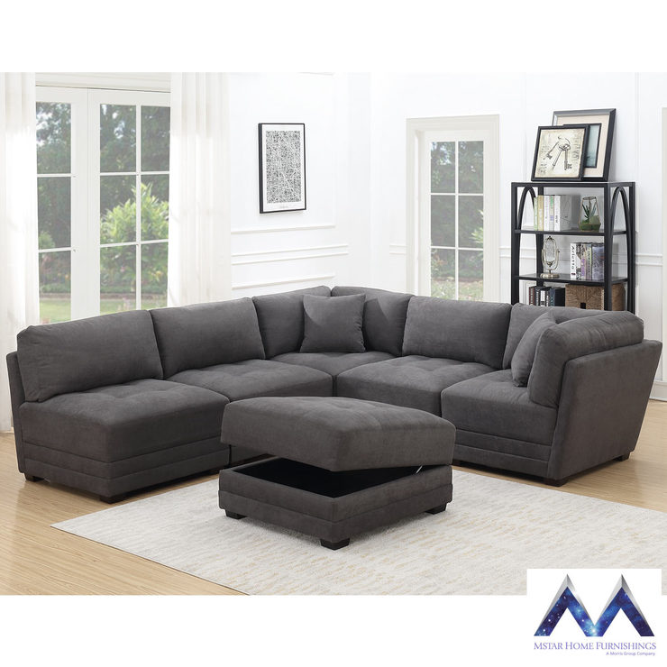 Mstar International 6 Piece Modular Fabric Sofa Costco Uk