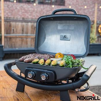 "Nexgrill 19"" (48.9cm) 2 Burner Cast Aluminium Gas Table Top Barbecue"