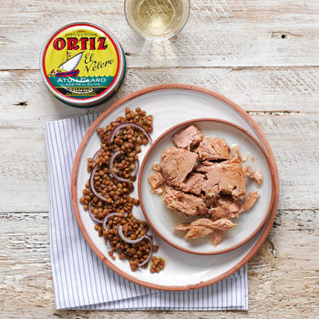 Brindisa Ortiz Spanish Yellowfin Tuna Fillets in Olive Oil, 4 x 250g