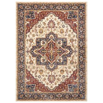 Lagos Botanical Medallion Traditional Rug in 2 Sizes