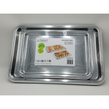 Sabert Rectangular Mix Platters, Pack of 10