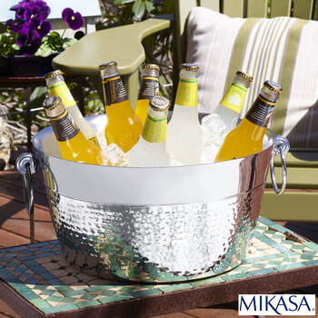 Mikasa Double Wall Stainless Steel Hammered Beverage Tub