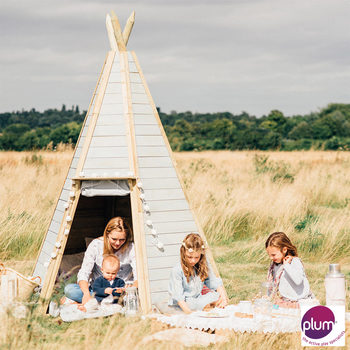 Plum (2.3m) Great Wooden Teepee Hideaway (3+ Years)