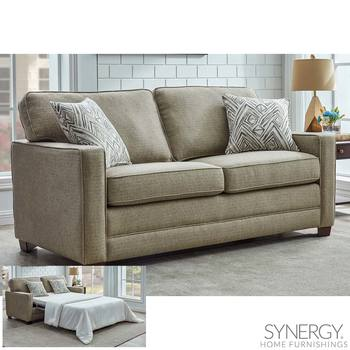 Landree Fabric Full Size Sleeper Sofa Bed with 2 Accent Pillows