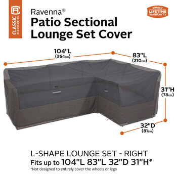 Classic Accessories Ravenna L-Shaped Right Sectional Set Cover