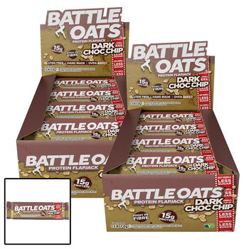 Battle Oats Dark Chocolate Chip Protein Flapack Bars, 24 x 70g