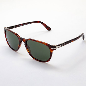 Persol Brown Tortoise Shell Sunglasses with Green Lenses, 3019/S 24/31