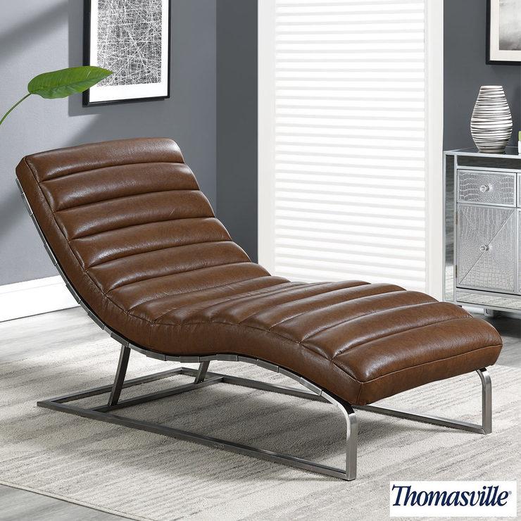 Thomasville Top Grain Leather Chaise Lounge | Costco UK