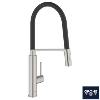 GROHE Concetto C-Spout Single-Lever Mixer Tap in SuperSteel - Model 31491DC0