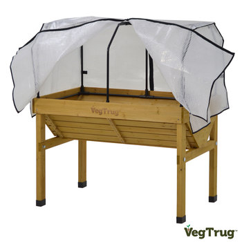 VegTrug Small 1.2m Planter + Greenhouse Frame + Cover