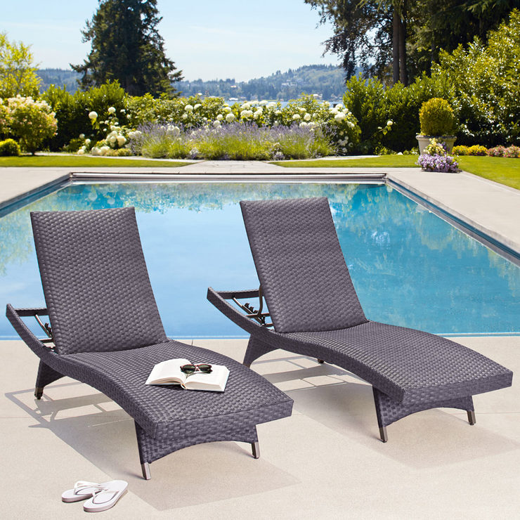 Palm Aire Woven Padded Chaise Lounge 2 Pack | Costco UK