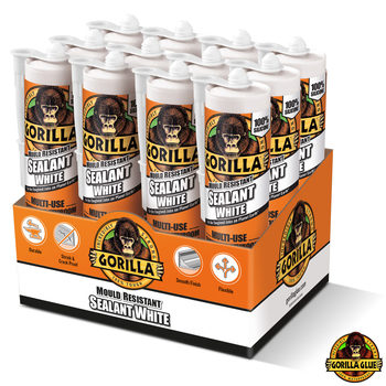 Gorilla Glue Mould Resistant White Sealant 295ml - 12 Pack