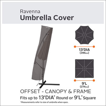 Classic Accessories Ravenna Offset Patio Umbrella Canopy Cover