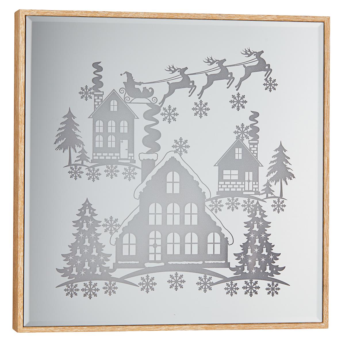12 Inch 30 Cm Set Of 2 Christmas Led Mirror Sign Costco Uk