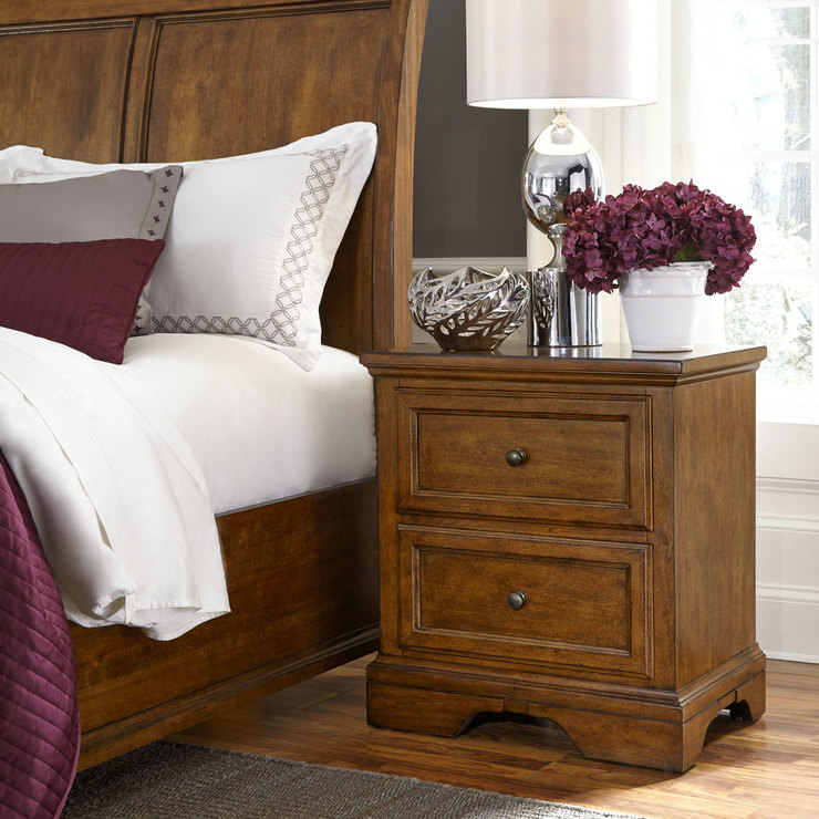 Universal broadmoore margo nightstand with 2 drawers - Universal broadmoore bedroom furniture ...