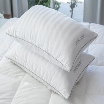 Hotel Grand Feather & Down Rolled Jumbo Pillow, 2 Pack