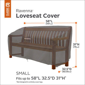 Classic Accessories Ravenna Small Patio Sofa Loveseat Cover