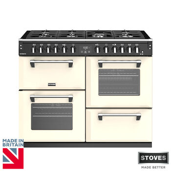 Stoves Richmond S1000DF, 100cm Dual Fuel Range Cooker A Rating in 2 Colours
