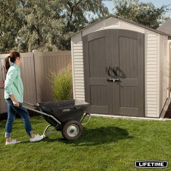 Lifetime 7ft x 7ft (2.1 x 2.1m) Outdoor Storage Shed