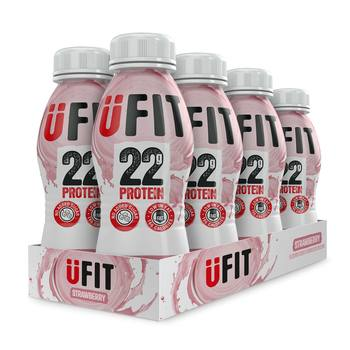 UFIT Strawberry Protein Shake, 8 x 310ml