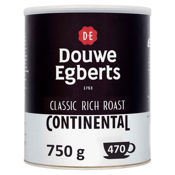 Douwe Egberts Continental Classic Rich Roast Instant Coffee Granules, 750g