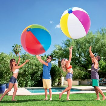 "Bestway 60"" (152.4 cm) Multicoloured Beach Balls - Pack of 2"