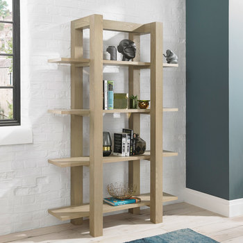 Bentley Designs Turin Aged Oak Open Shelf Unit