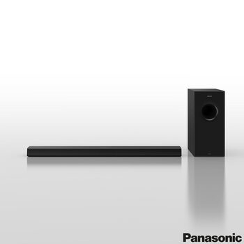 Panasonic SC-HTB600EBK, 2.1 Ch, 360W Soundbar and Wireless Subwoofer with Bluetooth and DTS:X