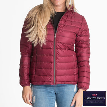 Harvey & Jones Gemma Women's Ultra Lightweight Hooded Down Jacket in 3 Colours and 6 Sizes