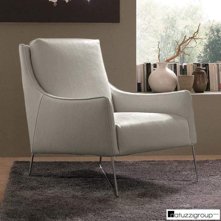 Astonishing Natuzzi Light Grey Top Grain Leather Accent Chair Costco Uk Ibusinesslaw Wood Chair Design Ideas Ibusinesslaworg