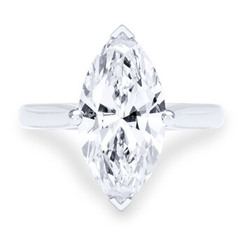 4.22ct Marquise Cut Diamond Solitaire Ring, Platinum